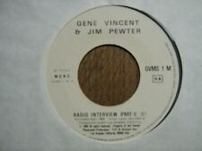 GENE VINCENT & JIM PEWTER 45 TOURS RADIO INTERVIEW