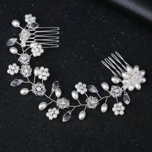Elegant-Crystal-Pearl-Flower-Hair-Comb-Hairclip-Hairband-Bridal-Wedding-Jewelry