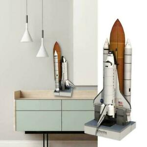 1: 150 DIY Space Shuttle Paper Model Glossy Coated D6D Rocket Puzzle Space N9E7