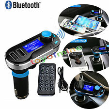 Wireless Bluetooth Auto trasmettitore FM MP3 Radio Lettore Kit Caricabatterie
