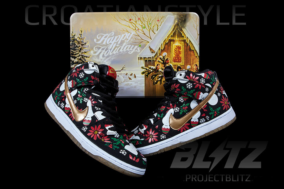 Nike CONCEPTS DUNK HIGH PREMIUM UGLY CHRISTMAS SWEATER SWEATER SWEATER Size 8.5 BLACK 635525-006 7066a4