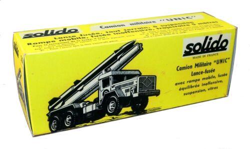 Solido boîte repro 201 camion Unic lance fusée