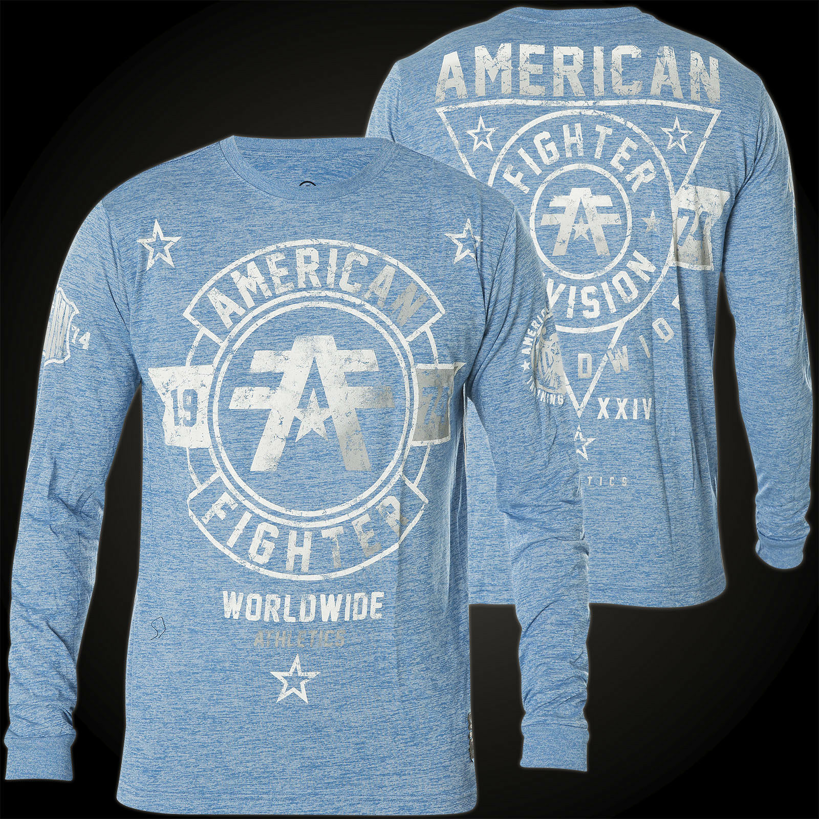 American Fighter by Affliction Thermal Silver Lake Blue
