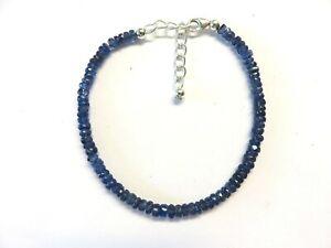 Kyanit-blau-facettiert-Armband-18-5-22-cm-925-Silber-Cyanite-Bracelet-7041