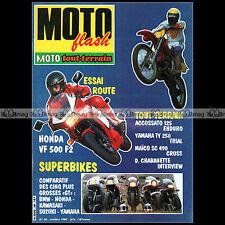 MOTO FLASH N°58 BMW K100 RS KAWASAKI GPZ 900 R MAÏCO 490 SC YAMAHA TY 250 1984