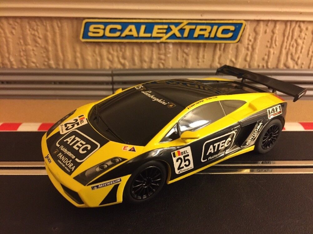 Scalextric Lamborghini Gallardo DPR Fully Serviced & New Braids C3180 Excellent