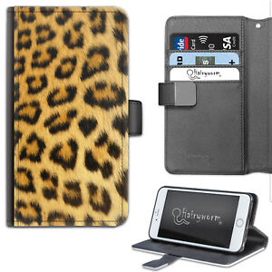 HAIRYWORM-NATURAL-LEOPARD-PRINT-DELUXE-LEATHER-WALLET-PHONE-CASE-FLIP-CASE