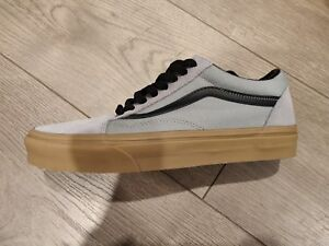 vans old skool gris leather