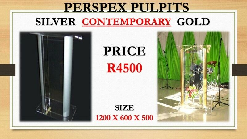 Gold And Silver Contemporary Pulpit