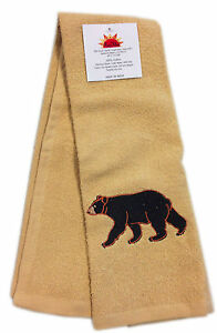 Black-Bear-Southwestern-Design-Terry-Towel-16x28-inches