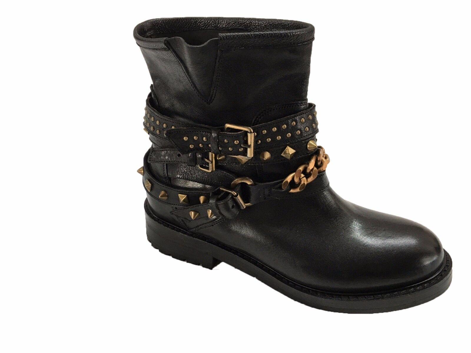 LE RUEMARCEL low boots woman studded rubber sole heel cm 3 SIZE 40
