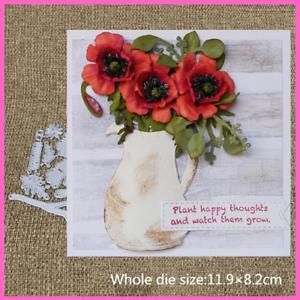Metal Embossing Cutting Dies Craft Cut Dies Mold Poppy Flower Scrapbooking Kits
