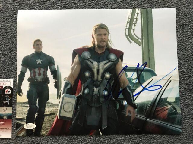 Thor Chris Hemsworth Autographed Signed 11x14 Photo JSA COA #10