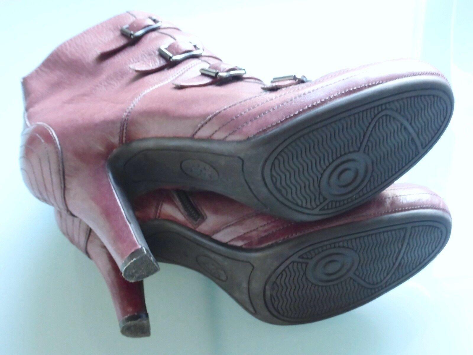 Ash-botines ancle botas, hebillas, Plateau, uva berenjena 41, casi nuevo nuevo nuevo 3a50f2