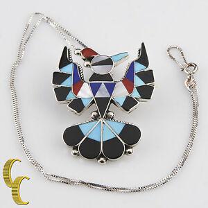 Indianer Halbedel Intarsie Adler Halskette Und Ohrring Set Mit Box Stil Kette Uhren & Schmuck Folkloreschmuck