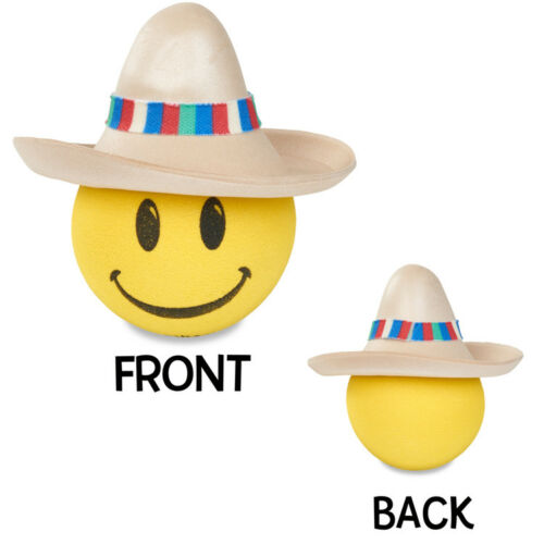 Coolballs® Happy Amigo w Sombrero Hat Car Antenna Topper / Mirror Dangler