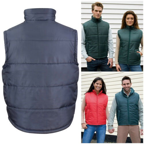 Mens Womens Quilted Padded Bodywarmer Gilet Gillet Sleeveless Coat Jacket S–3XL
