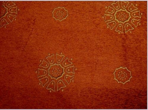 """Como 66 /""""X 54/"""" terra cotta gold lourds de luxe prêts réalisés rideaux à plis plat"""