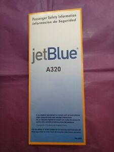 jetBlue A320 (Airbus) Safety Card 2004. P/N JB-PSI-A320 (BC798)