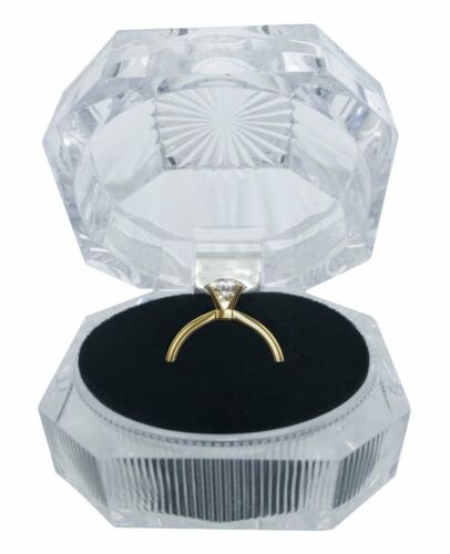 24PC Crystal Style Clear Boxes for Rings