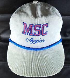 Murray-State-College-Corduroy-Hat-Vintage-Classic-Strapback-Cap-MSC-Aggies-Okla