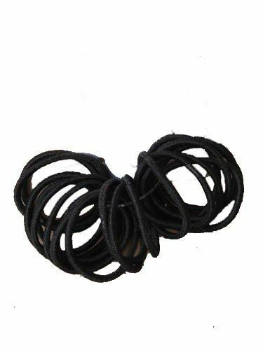 Girls 20 Small Mini Baby Sized Black Thin Hair Elastics Bobbles Bands Snag  for sale online  e141113be72