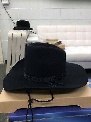 COWBOY HAT 100/% FUR FELT GRAY SIZE 57 SELENTINO TONAK 7 1//8