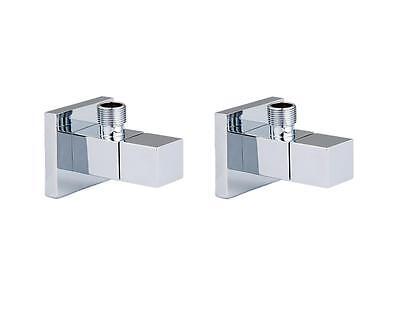 2 Design Eckventile eckig  f. Waschtisch - Armatur - chrom NEU OVP