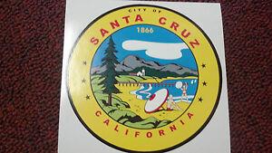 SANTA-CRUZ-CITY-OF-1866-CALIFORNIA-VERY-COLORFUL-STICKER-VERY-COOL-4-034