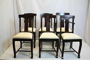Prime Antique Victorian Set Of 6 Walnut Dining Game T Back Chairs Cjindustries Chair Design For Home Cjindustriesco