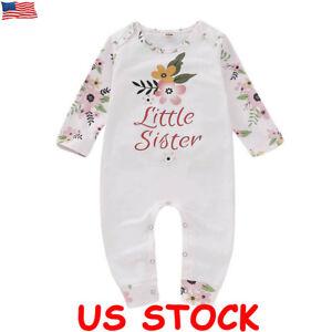 Newborn-Infant-Kid-Baby-Girl-Floral-Bodysuit-Romper-Jumpsuit-Outfit-Clothes-Set