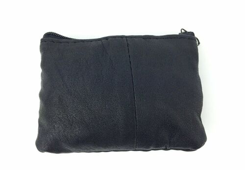 Small Ladies Soft Leather Coin Change Pouch Purse wallet With 2 Zips /& Key Ring