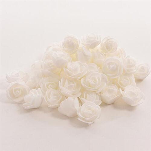 Wedding Artificial Flower Heads Home Ornament 6 Colors 3-3.5 cm Fake 50pcs Rose