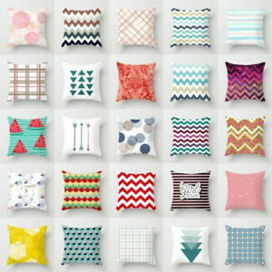Pillow-Case-Polyester-Sofa-Waist-Throw-Cushion-Cover-Home-Decor-Geometry-Wave