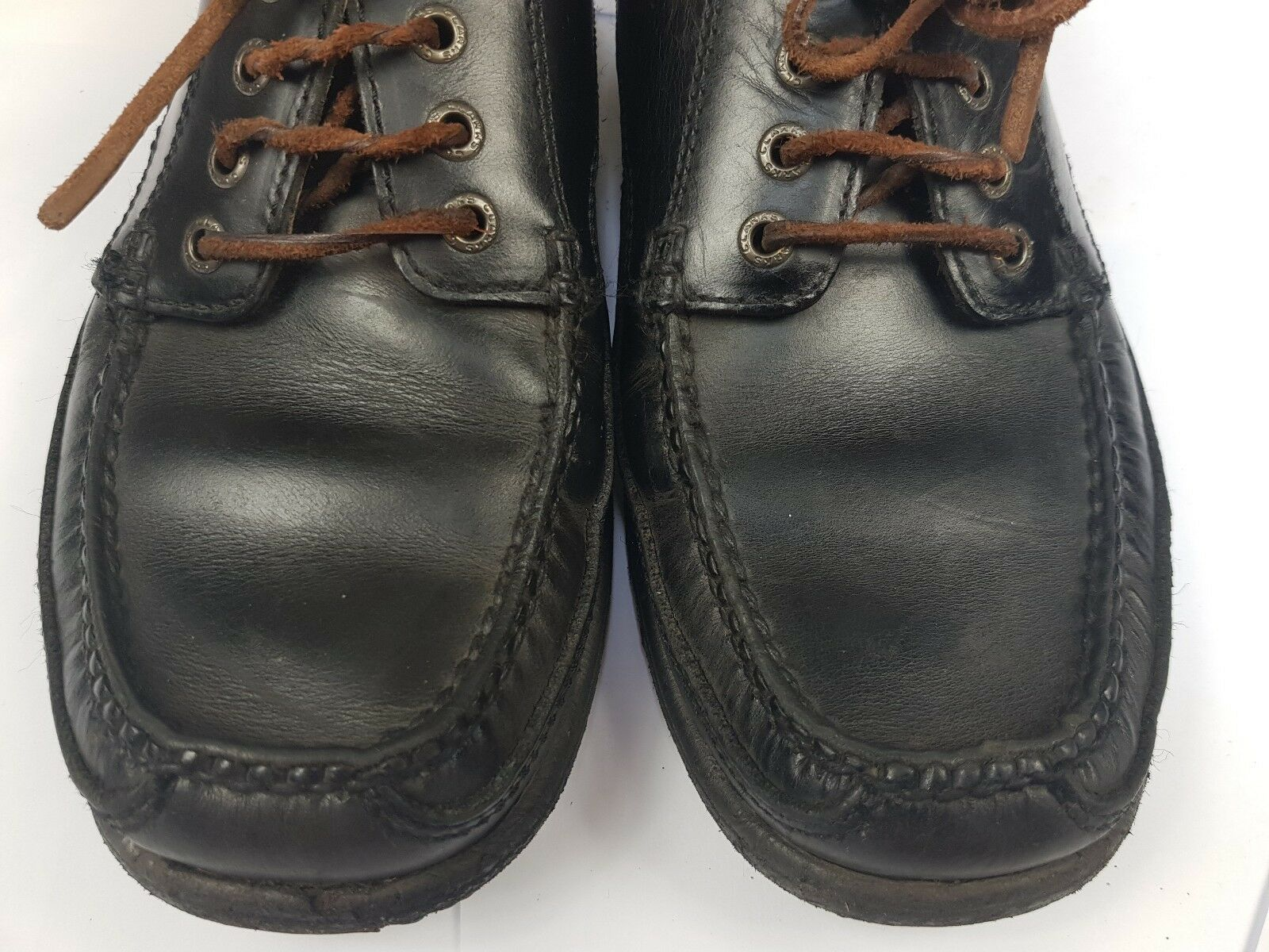 CLARKS Active Air BOAT SHOE Blue Boat G Deck Shoes Leather Uppers G Boat - VGC 3fd901