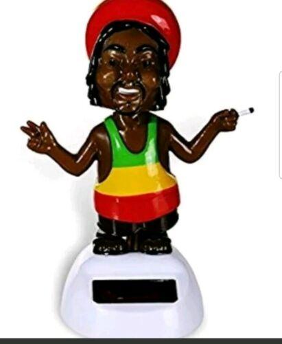 Details about  /Jamaican Rastafarian Fun Rasta Man Solar Powered Solar Pal Dancing Figurine New