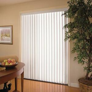 White 3 5 In Pvc Vertical Blind Window