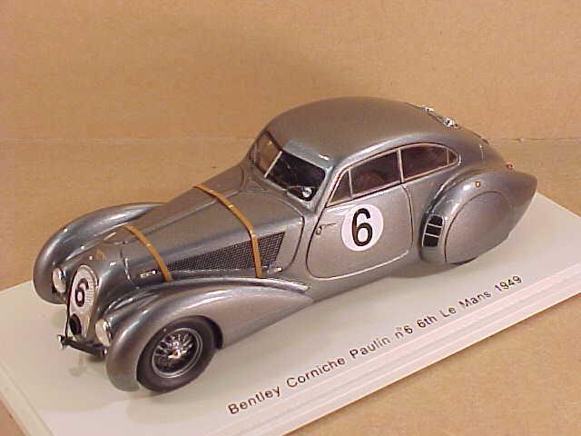 Spark 1 43 Résine Bentley Corniche  Paulin, 6th 1949 Mans  6 Remorque à Foin &  livraison éclair