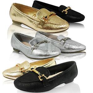 Mocassin Taille Plat Pompes Enfants Neuf Talon Fête Filles Détails Chaussures sur Ballerines 0mnPyNOv8w