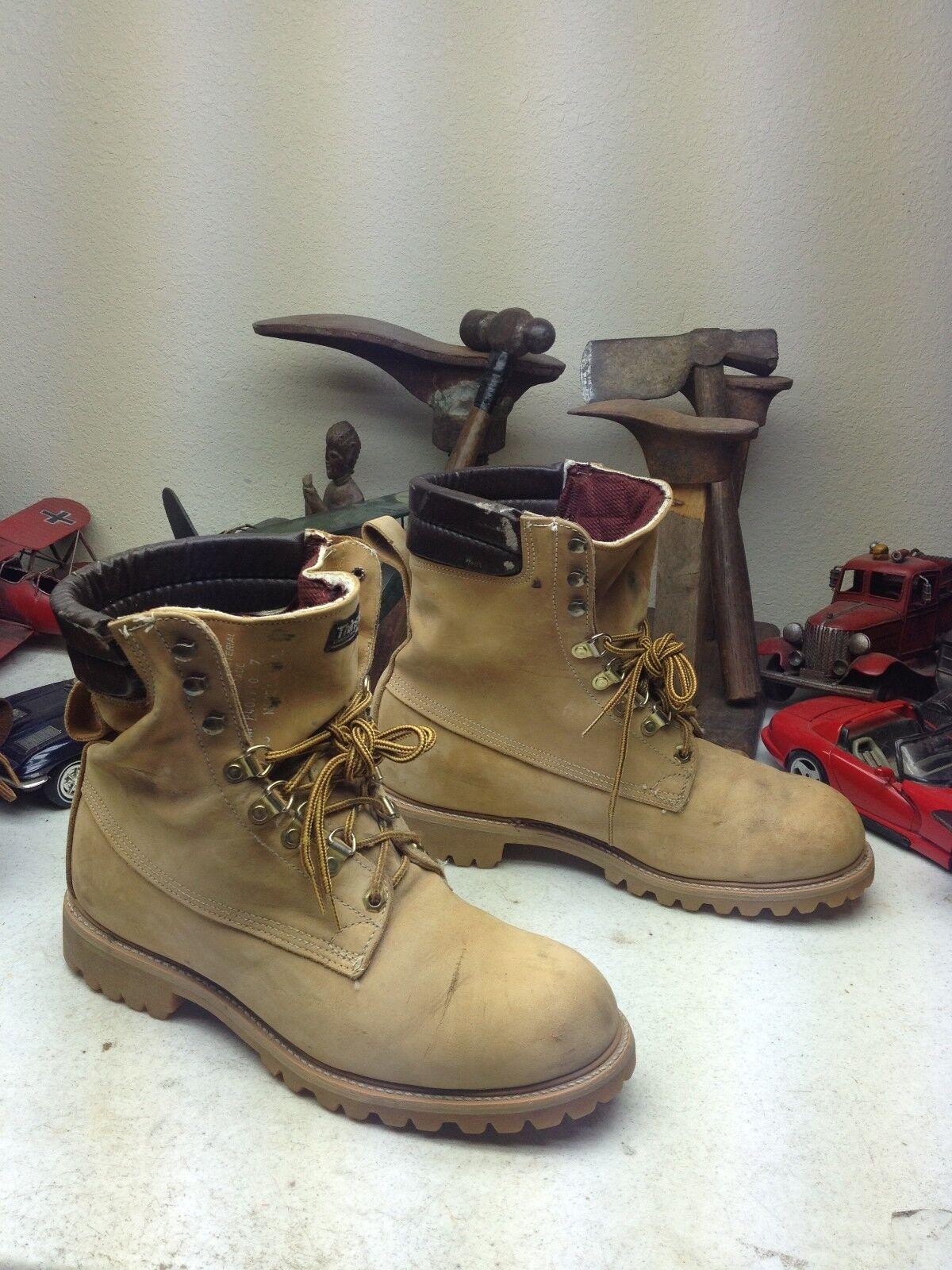 Hecho en EE. UU. Dunham rubia Cuero Con Cordones botas empaquetador trabajo tarea camionegro 10.5MW