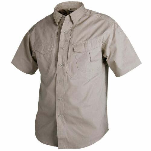 Helikon Tex Defender Short Sleeve Shirt Khaki kurzarm Hemd Canvas Stoff Outdoor