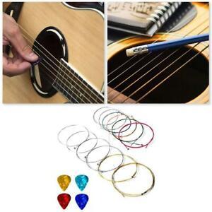 1-Set-Nylon-Guitare-acoustique-cordes-de-remplacement-avec-Guitar-Picks