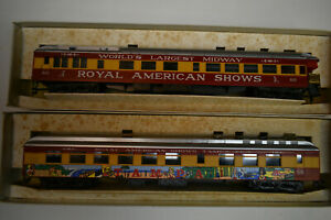 Rivarossi-HO-Scale-Royal-American-Shows-TAMPA-56-amp-60-1920-Diner-Cars