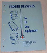 1949 Frozen Desserts Custard Ice Cream Pet Milk Food Recipe Cook Book Booklet