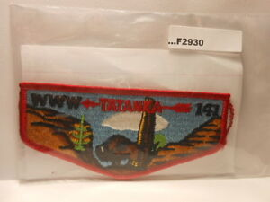 TATANKA LODGE 141 VERTICAL STITCH LARGE FLAP VINTAGE F2930