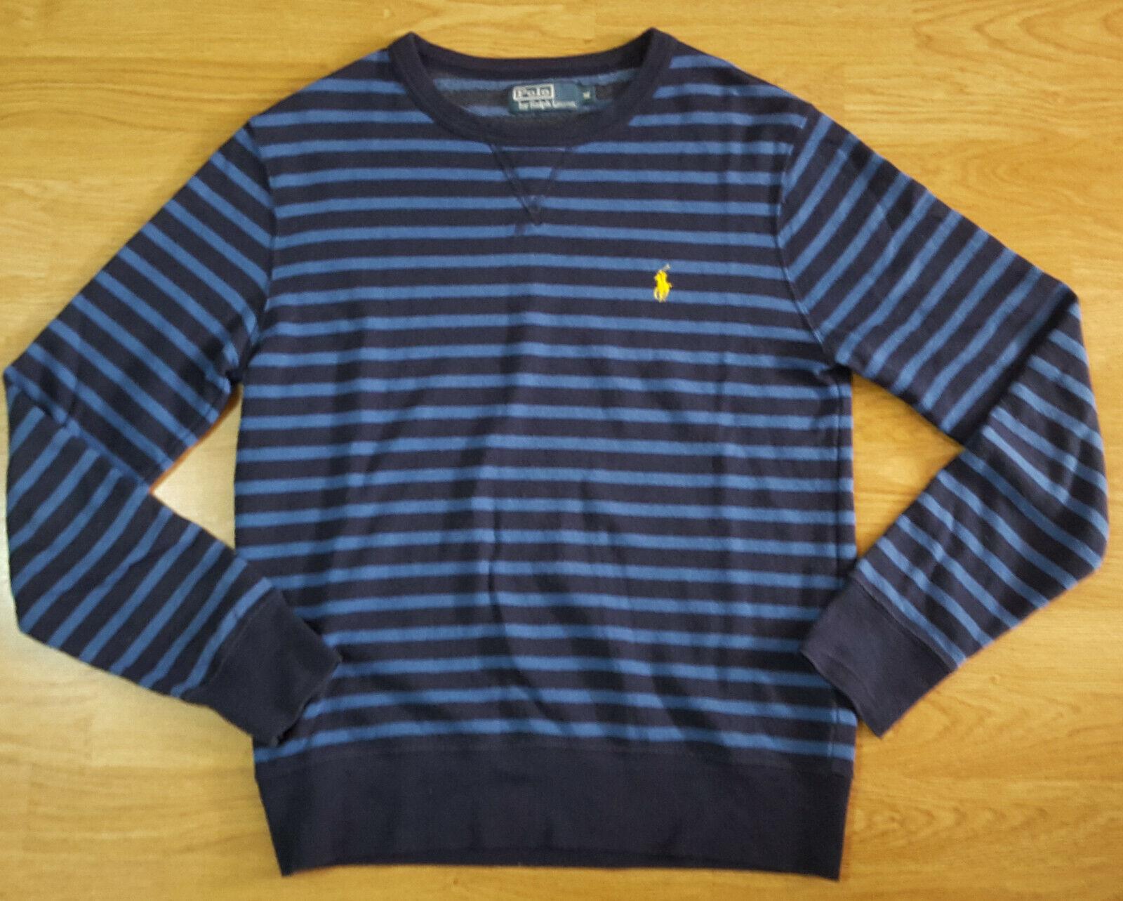Ralph Lauren Polo Sweater Light Jumper oben Striped Blau Größe M
