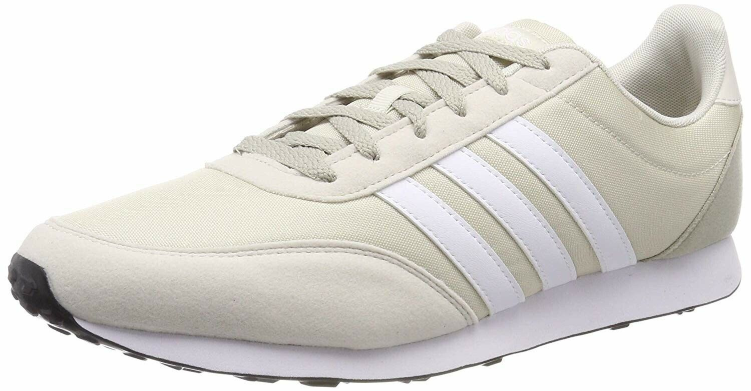 ADIDAS V RACER 2.0 MEN& 039;S ATHLETIC SHOES SNEAKERS BEIGE NEW F34446