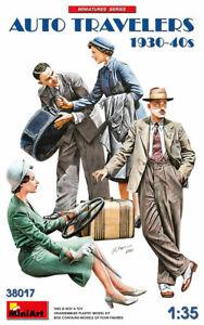 MINIART 38017 - AUTO TRAVELERS 1930-40S 4 Figures - 1/35
