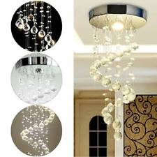 Chrome Crystal LED Ceiling Light Fitting Pendant Chandeliers 5336HCLiving Room