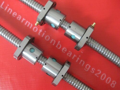 2 anti backlash lead screw ballscrew RM2005-800//1500mm 4 ballnuts